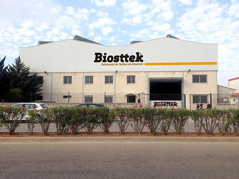 Biosttek fabricante techos aluminio
