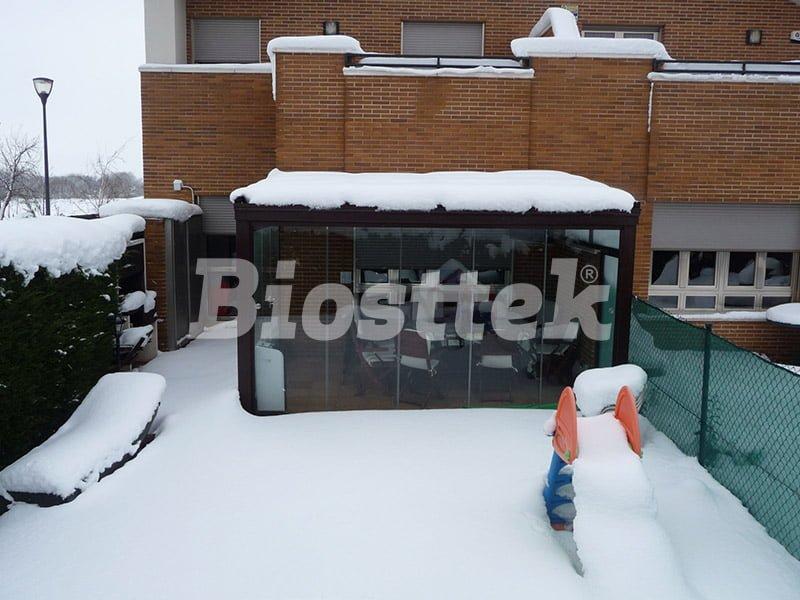 techos móviles para el invierno de vidrio