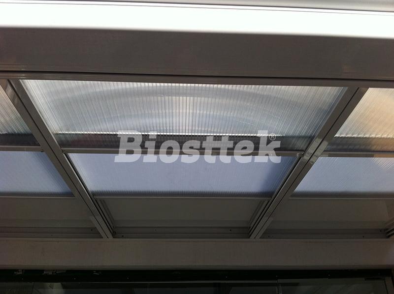 Biosttek - Techo Móvil Policarbonato/Panel