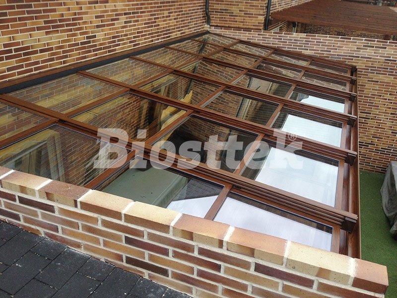 techo movil de vidrio