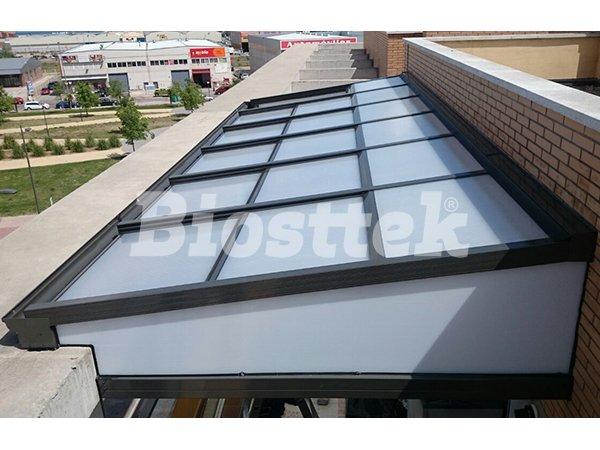 techo policarbonato panel instalado en madrid