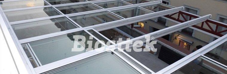 techo de vidrio motorizado