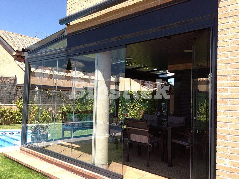 techo fijo de vidrio