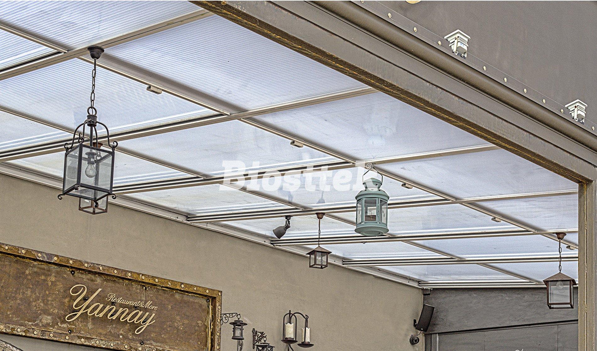 Cerramientos de terrazas y techos de aluminio biosttek for Techos de policarbonato para balcones