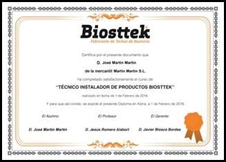 Diploma Jornadas Formativas de Biosttek