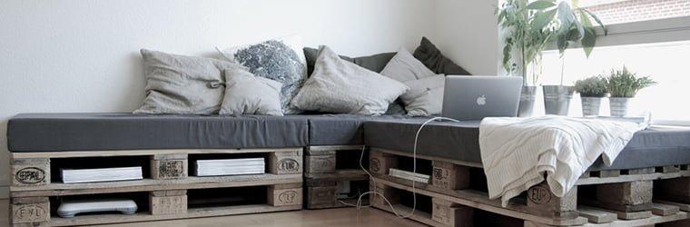 sofas con palets moderno